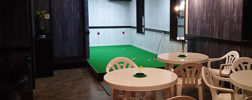 三島居酒屋ディーゴルフの店内